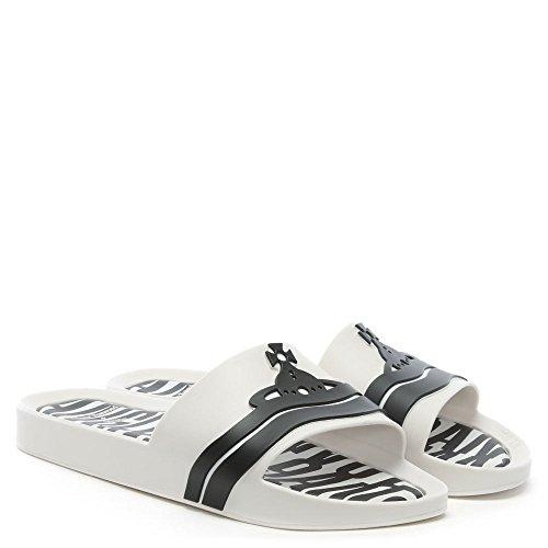 Melissa x Vivienne Westwood Unisex Beach Slide 19 Plastic White Contrast Size 4