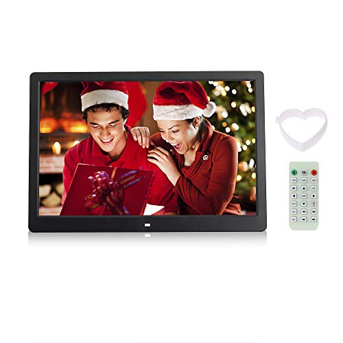 Andoer 15.6 inch HD LED Screen Digital Picture Frame High Resolution1280 x 800 Alarm MP3 MP4 Movie Player with Remote Control