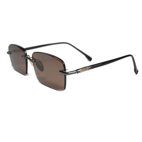 Santonliso Gafas de Sol de Color marrón sin Marco y con ...