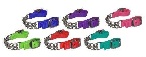 (Nylon Showman Colored Curb Chains (Royal Blue))