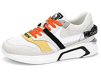 CAMEL CROWN Women's Retro Fashion Sneakers Athletic Sports Walking Shoes Casual Platform Chunky Dad Sneakers Beige Size: 4