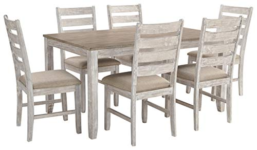 Signature Design by Ashley Skempton Dining Room Table and Chairs (Set of 7), Two-tone