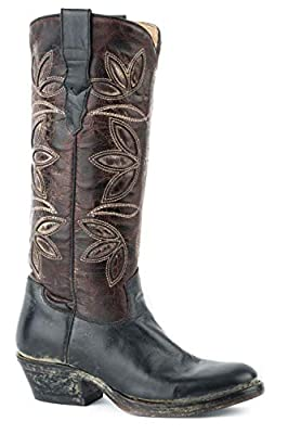 Stetson Womens Black Leather 13In Legend Cowboy Boots