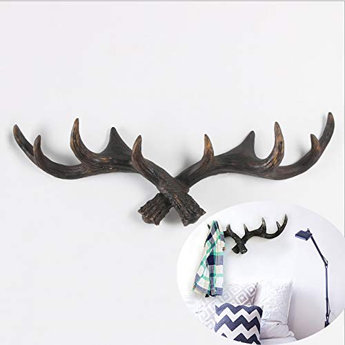 10 Point Stag Deer Antlers Rack Wall Plaque - Floating Shelves Set of 1 Wall Shelves Wall Mounted, Wall Shelves for Bedroom, Living Room, Bathroom, Kitchen,Redcopper