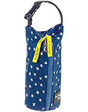 Walking Mum - Funda de biberón denim baby azul