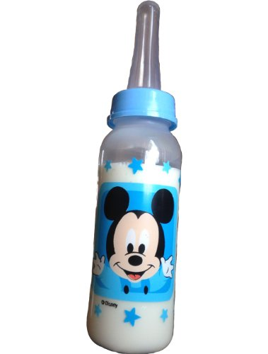 Baby Mickey Mouse Blue nursing bottle with adult nipple