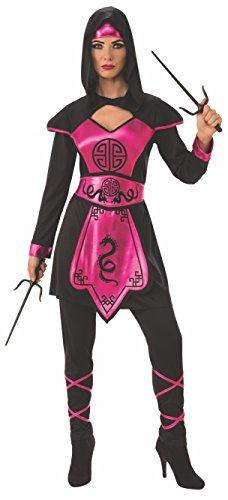 Rubie's Women's Standard Pink Ninja Warrior, Black, Large -