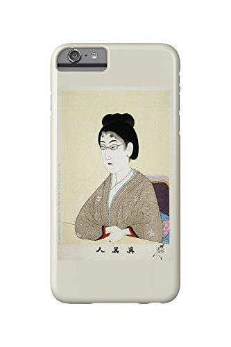 Woman Wearing Wire Spectacles Japanese Wood-Cut Print (iPhone 6 Plus Cell Phone Case, Slim Barely - Japanese Spectacles