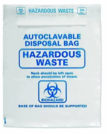 Heathrow Scientific HD1002A Polypropylene Autoclavable Disposal Bag, 660mm Length x 310mm Width (Pack of 200)