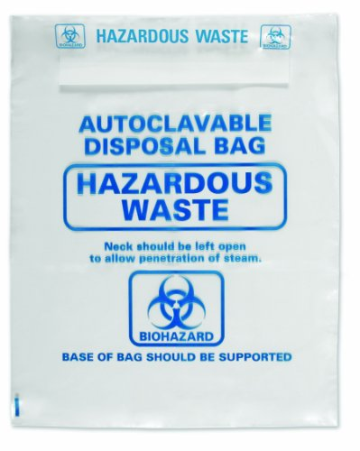 Heathrow Scientific HS1002C Autoclavable Bag, Polypropylene, Disposable, 24.01 x 31.88 in (61.0 x 81.0 cm), Natural, Pack of 200 by Heathrow Scientific
