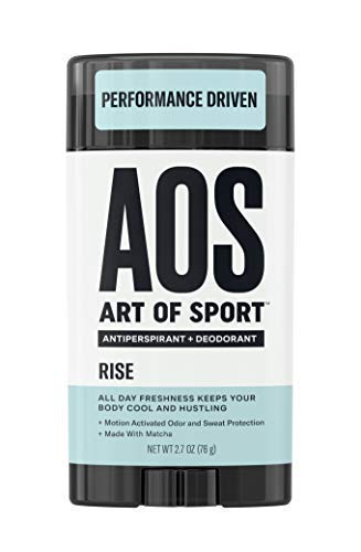 Art of Sport Men's Antiperspirant Deodorant Stick, Rise Scent, Athlete-Ready Formula with Matcha, 2.7 oz