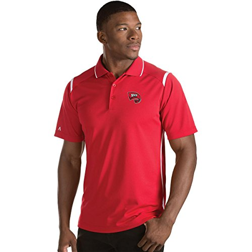 ANTIGUA MEN'S WESTERN KENTUCKY HILLTOPPERS MERIT POLO SHIRT RED/WHITE (Antigua Red Classic Shirt)