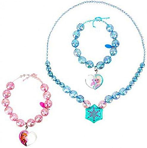 Disney Frozen Anna and Elsa Necklace and Bracelet