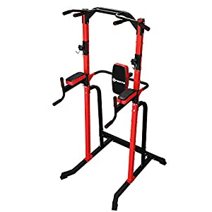 ZENOVA Power Tower Heavy Duty Gym Tower,Pull Up Dip Stand Bar Used as Squat Rack Multi-Function Fitness Workout Equipment for Home