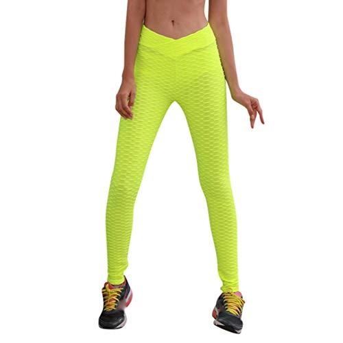 de Pantalón de Boho de Pantalones Jeans Leggings Estilo Pantalones de Vaqueros Harem Mujer Yoga Ocio Sueltos Fitness Amarillo ASHOP Impreso Cordón Alta Cintura Cintura Casuales aaPqv1w