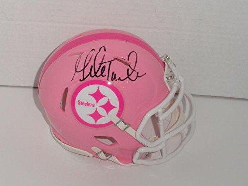 Mike Tomlin Autographed Mini Helmet - Pink Breast Cancer Proof - Autographed NFL Mini Helmets Autographed Pink Mini Helmet