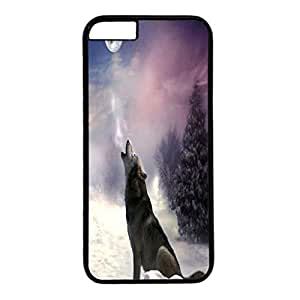 iPhone 6 Plus Case,Fashion Durable Black Side DIY design for Apple iPhone 6 Plus(5.5 inch),PC material iPhone 6 Plus Cover ,Safeguard Phone from Damage ,Designed Specially Pattern with The magnificent Wolf. by runtopwell