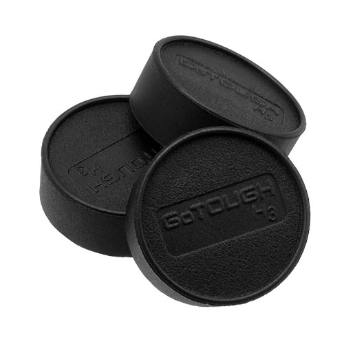 Fotodiox GoTough 3x Lens Caps for the HERO3/3+/4 Naked Camera - Set of 3