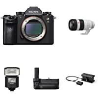 Sony a9 Full Frame Mirrorless Interchangeable-Lens Camera w/ Telephoto Lens & Accessories