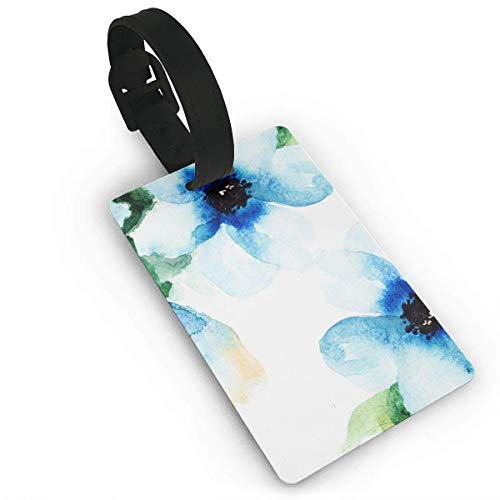 - Avagea Travel ID Identification Labels, Luggage Tag Blue Flower Business ID Card Holder for Travel BaggageTags
