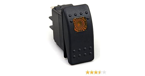 Universal SR1003BLPFBA 12V Orange//Amber Light Rocker Switch Kit Dash 3pin 20 Amp