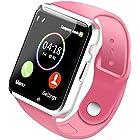 Bluetooth Smart Watch - Wzpiss Unlocked Smartwatch Wrist Watch Fitness Tracker Camera Pedometer SIM Card Slot Compatible iOS iPhones Android Samsung Kids Women Men (Pink)