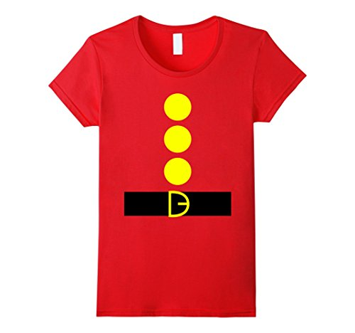 Womens Dwarf-DIY Halloween-Costume T-Shirt - Funny Party Tshirt Large Red