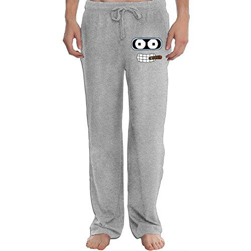 PTR Men's Futurama Funny Face Sweatpants Color Ash