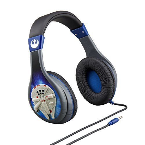 Star Wars Headphones with Kid Safe Technology - Star Wars Millennium Falcon...