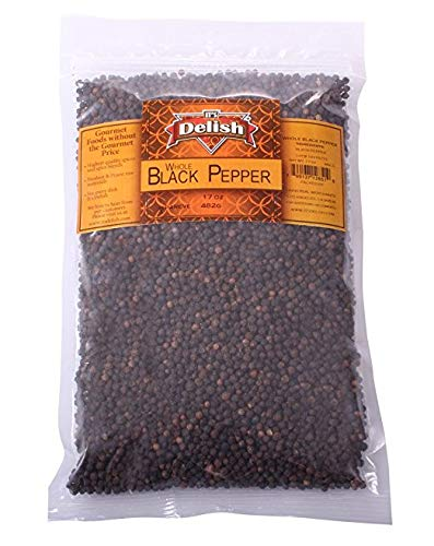 Black Pepper by Its Delish (Whole peppercorns, 2 lbs)