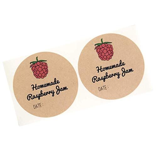 (Homemade Raspberry Jam Jelly Mason Jar Labels by Once Upon Supplies, Hoomemade Jam Labels Stickers, 2