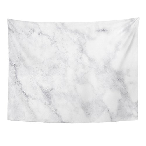 Emvency Tapestry Gray Bathroom White Marble Plate Ceramic Light Grey Rustic Home Decor Wall Hanging for Living Room Bedroom Dorm 60x80 Inches