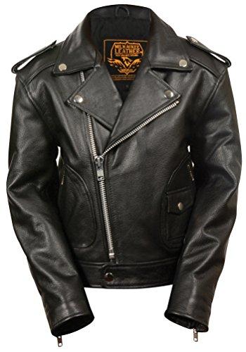 Leather Jacket Interstate Black - Milwaukee Leather Boys' Updated Jacket (Black, X-Large) (M/C)