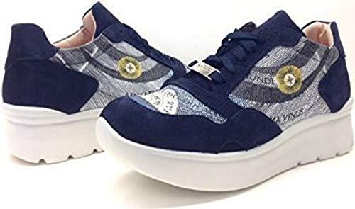 Scamosciata PEGVA6042WSBP18 in Gattinoni Pelle Roma Blu Sneakers wRfqvqY5p
