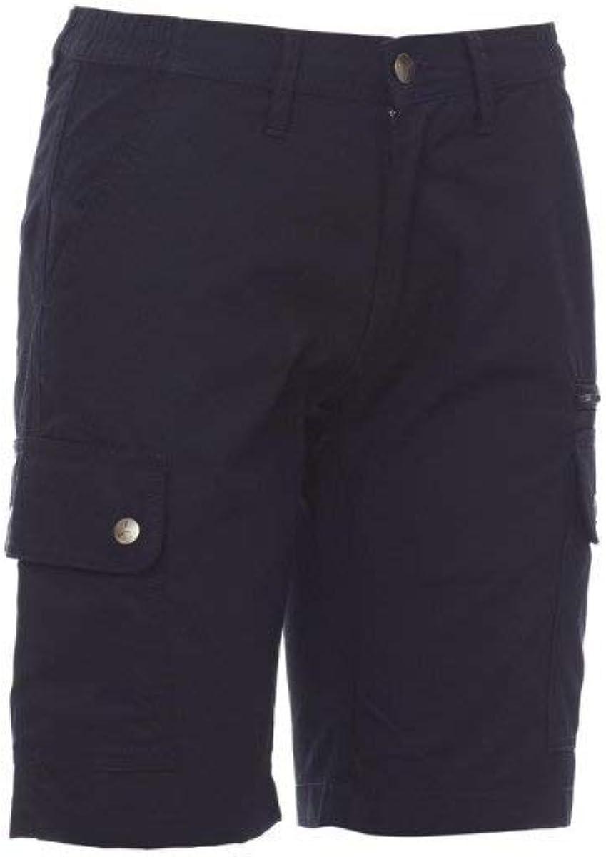 PAYPER Rimini Summer Lady Bermuda da Donna 100/% Cotone Tasche Laterali Chiusura con Patta Zip portametro Blu Navy XL