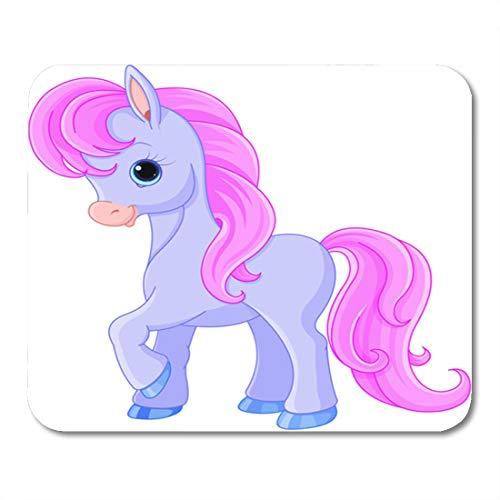Nakamela Mouse Pads Fairy Cartoon of Very Cute Fairytale Pony Clipart Tale Mouse mats 9.5
