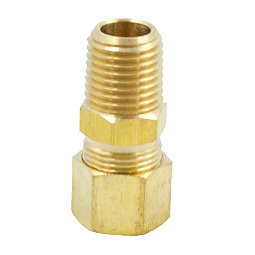 Legines Brass Compression Fitting, Male Adapter, 1/8