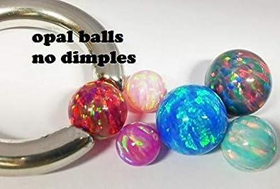Painful Pleasures 10mm Snap Fit Opal Captive Ball