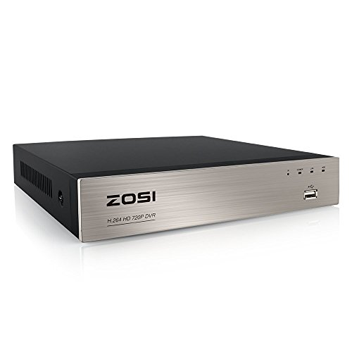 ZOSI 8 Channel 720P HD-TVI Standalone H.264 CCTV Security Surveillance DVR Record System NO Hard Disk (QR Code Scan Quick Access, Smartphone& PC Easy Remote Access) (Certified Refurbished) For Sale