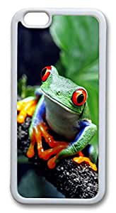 Beautiful Frog TPU Case Cover for iphone 6 plus 5.5 inch White
