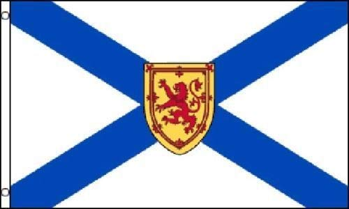 ALBATROS 3 ft x 5 ft Nova Scotia Canada Canadian Province Flag Banner Brass Grommets for Home and Parades, Official Party, All Weather Indoors Outdoors