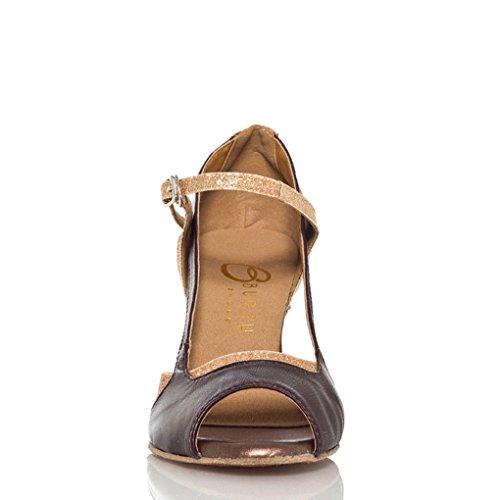 Dance Miyoopark Designed M 10 Strappy Latin Gold Women's US Shoes Glitter Ballroom A0ABRHqw