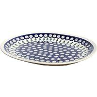 Polish Pottery Large Serving Platter Zaklady Ceramiczne Boleslawiec 1007-56 Peacock