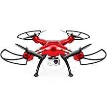 Syma X8HG New Altitude Hold Mode Headless RC Quadcopter with 8MP Camera-Red