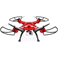 Dayan Anser Barometer Set Height Flip Syma X8HG FPV RC Quadcopter Drone 2.4G 4 Channel 6 Axis Gyro 8MP HD Camera Quadcopter with 8MP 1080P HD Camera Drone and High Hold Mode (Red)