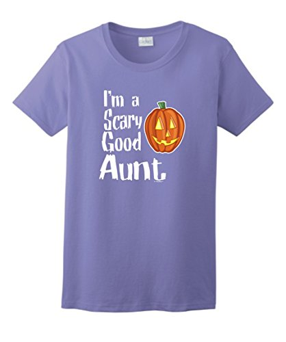 Aunt Halloween Costumes for Aunt Halloween Gifts for Aunt I'm a Scary Good Aunt Ladies T-Shirt Small Violt (Halloween Costumes Movie Titles)