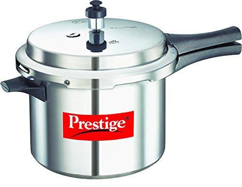 Prestige Popular Aluminium Pressure Cooker, 5 Litres,Silver