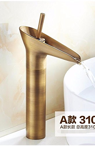 AWXJX European Style Washbasin Single Hole Copper Sink Taps by AWXJX Sink faucet