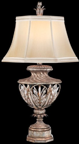 (Fine Art Lamps 301810, Winter Palace Tall 3 Way Crystal Table Lamp, 1 Light, 150 Total Watts, Silver)