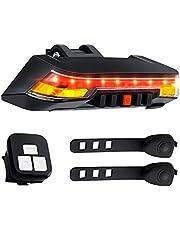 Fiets remlicht met richtingaanwijzers, Super Bright, 2000mAh, verbeterde afstandsbediening, 8 lichtmodi, IPX6 waterdicht, USB-oplaadbare Smart fiets achterlicht